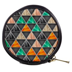 Abstract Geometric Triangle Shape Mini Makeup Bags