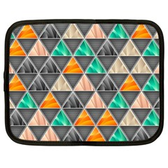 Abstract Geometric Triangle Shape Netbook Case (xl)