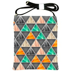 Abstract Geometric Triangle Shape Shoulder Sling Bags by Nexatart