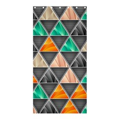 Abstract Geometric Triangle Shape Shower Curtain 36  X 72  (stall)  by Nexatart