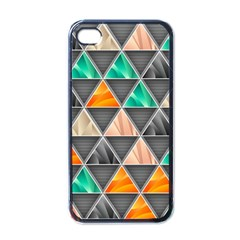 Abstract Geometric Triangle Shape Apple Iphone 4 Case (black)