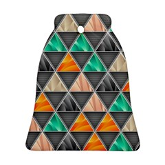 Abstract Geometric Triangle Shape Bell Ornament (two Sides) by Nexatart
