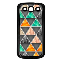 Abstract Geometric Triangle Shape Samsung Galaxy S3 Back Case (black)