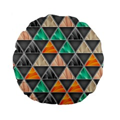 Abstract Geometric Triangle Shape Standard 15  Premium Flano Round Cushions by Nexatart