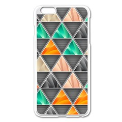 Abstract Geometric Triangle Shape Apple Iphone 6 Plus/6s Plus Enamel White Case
