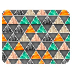 Abstract Geometric Triangle Shape Double Sided Flano Blanket (medium)