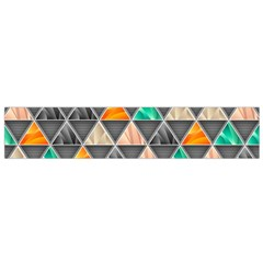 Abstract Geometric Triangle Shape Small Flano Scarf