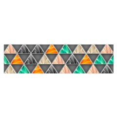 Abstract Geometric Triangle Shape Satin Scarf (oblong)