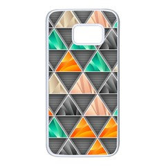 Abstract Geometric Triangle Shape Samsung Galaxy S7 White Seamless Case