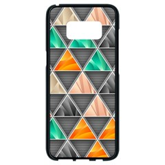 Abstract Geometric Triangle Shape Samsung Galaxy S8 Black Seamless Case