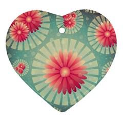 Background Floral Flower Texture Ornament (heart)