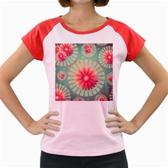 Background Floral Flower Texture Women s Cap Sleeve T Shirt