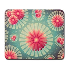 Background Floral Flower Texture Large Mousepads