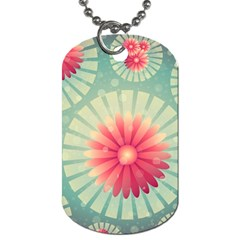 Background Floral Flower Texture Dog Tag (two Sides)