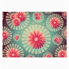 Background Floral Flower Texture Large Glasses Cloth (2 Side)