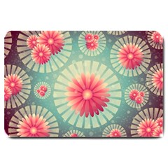 Background Floral Flower Texture Large Doormat