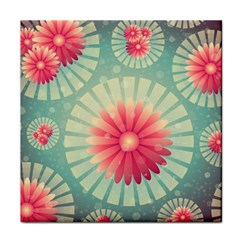Background Floral Flower Texture Face Towel