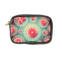 Background Floral Flower Texture Coin Purse