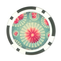 Background Floral Flower Texture Poker Chip Card Guard (10 Pack)