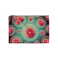 Background Floral Flower Texture Cosmetic Bag (medium)