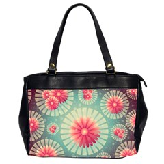 Background Floral Flower Texture Office Handbags (2 Sides)