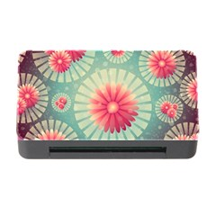 Background Floral Flower Texture Memory Card Reader With Cf