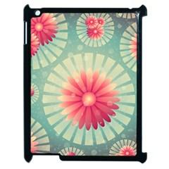 Background Floral Flower Texture Apple Ipad 2 Case (black)