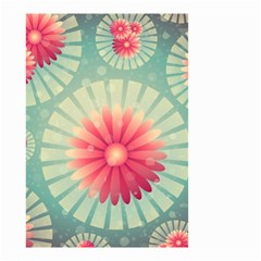 Background Floral Flower Texture Small Garden Flag (two Sides)