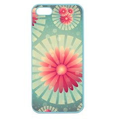 Background Floral Flower Texture Apple Seamless Iphone 5 Case (color)