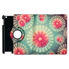 Background Floral Flower Texture Apple Ipad 3/4 Flip 360 Case