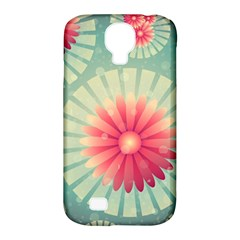 Background Floral Flower Texture Samsung Galaxy S4 Classic Hardshell Case (pc+silicone)