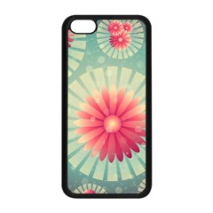 Background Floral Flower Texture Apple Iphone 5c Seamless Case (black)