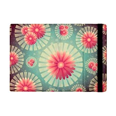 Background Floral Flower Texture Ipad Mini 2 Flip Cases