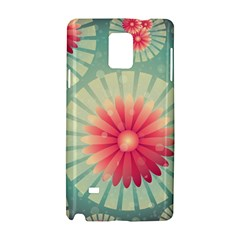 Background Floral Flower Texture Samsung Galaxy Note 4 Hardshell Case