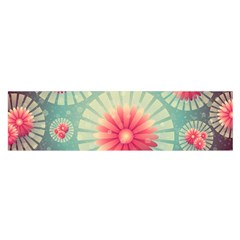 Background Floral Flower Texture Satin Scarf (oblong)