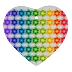 Background Colorful Geometric Ornament (heart)