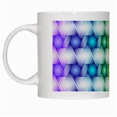 Background Colorful Geometric White Mugs