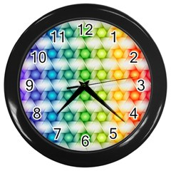 Background Colorful Geometric Wall Clocks (black)