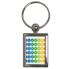 Background Colorful Geometric Key Chains (rectangle)