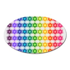 Background Colorful Geometric Oval Magnet