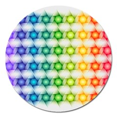 Background Colorful Geometric Magnet 5  (round)