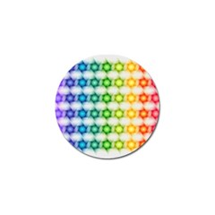 Background Colorful Geometric Golf Ball Marker (10 Pack)