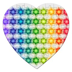 Background Colorful Geometric Jigsaw Puzzle (heart)