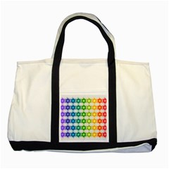 Background Colorful Geometric Two Tone Tote Bag
