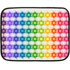 Background Colorful Geometric Double Sided Fleece Blanket (mini)  by Nexatart