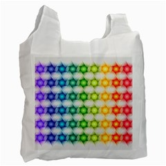 Background Colorful Geometric Recycle Bag (one Side)