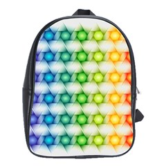 Background Colorful Geometric School Bag (large)