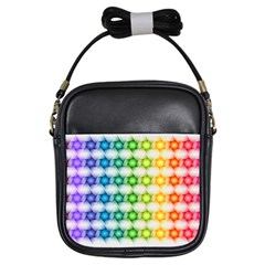 Background Colorful Geometric Girls Sling Bags