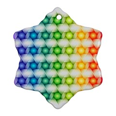 Background Colorful Geometric Ornament (snowflake)