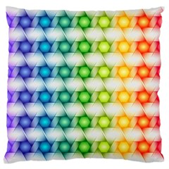 Background Colorful Geometric Large Cushion Case (two Sides)